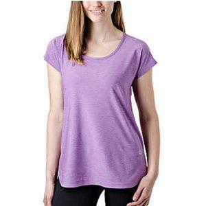 Tuff Athletics   Active Keyhole Tee Pansy Purple